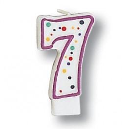 No 7 Polka Dots Candle