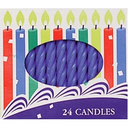 2.5 Inch Blue Spiral Candles