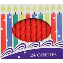 2.5 Inch Red Spiral Candles
