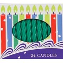 2,5 Inch Green Spiral Candles