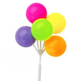 Neon Balloon Cluster Picks