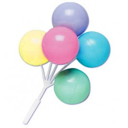 Pastel Balloon Cluster Picks