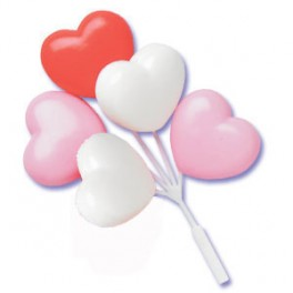 Heart Balloon Cluster Picks