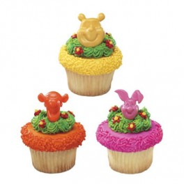 3D Pooh & Friends Cupcake Rings