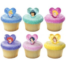 Disney Princess Jewel Cupcake Rings
