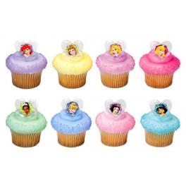 Disney Princess Glitter Cupcake Rings