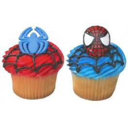 3D Spiderman Cupcake Rings