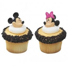 3D Mickey & Minnie Cupcake Rings