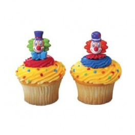 Clown Head Cupcake Pics