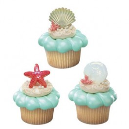 Seashell Cupcake Rings