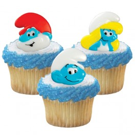 Smurf Cupcake Rings