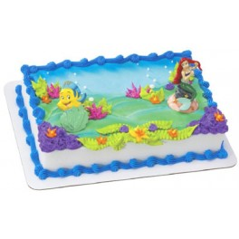Disney Princess Little Mermaid & Flounder Cake