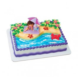 Dora Beach Fun Cake
