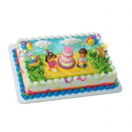Dora Birthday Celebration Cake