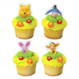 Pooh Happy Faces Cupcake Plac