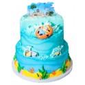 Despicable Me 2 Minion Beach Party 3 Tier Cake