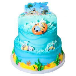 Despicable Me 2 Minion Beach Party 3 Tier Cake