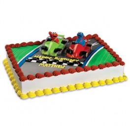 Sesame Street Elmo & Cookie Monster Race Cars Cake