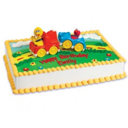 Sesame Street Big Bird & Elmo in Tow Topper