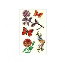 Flowers and Butterflies Tattoo A09