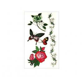 Roses and Butterflies Tattoo A06