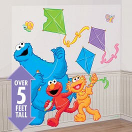 Elmo, Cookie Monster & Zoe Scene Setter