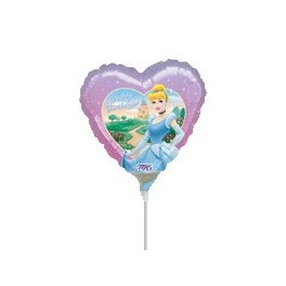 "9"" Cinderella Happy Birthday Air-Filled Balloon"