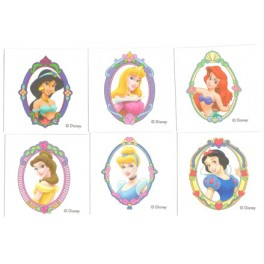Disney Princess Portrait Tattoos