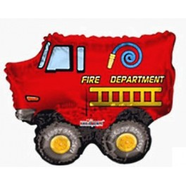 "14"" Firetruck Air-Filled Balloon"