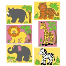 Safari Animals Sand Art Set