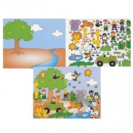 Noah's Ark Animal Sticker Scene
