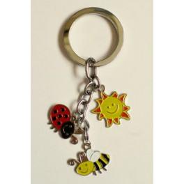 Bee n Ladybird Charm Keychain