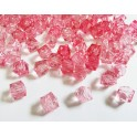 8mm Faceted Pink Cube Beads