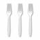7 Inch White Plastic Forks