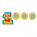 Pooh 1st Birthday Banner