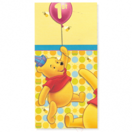 Pooh 1st Birthday Tablecover