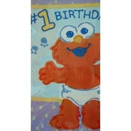 Sesame 1st Birthday Tablecover