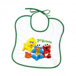 Sesame 1st Birthday Bib