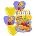 Pooh Cake Mylar Bouquet
