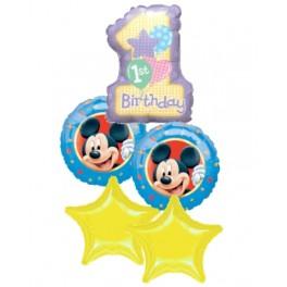 Mickey 1st Mylar Bouquet