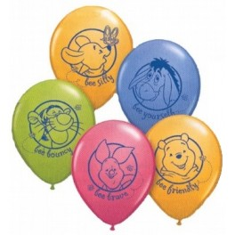 "12"" Pooh & Friends Latex Balloons"
