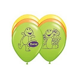"11"" Barney Latex Balloons"