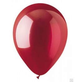 "12"" Crystal Red Latex Balloons"