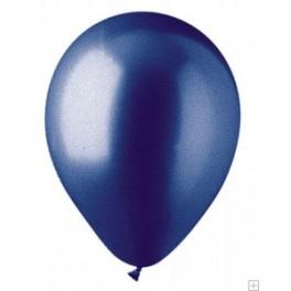 "12"" Metallic Pearl Sapphire Blue Latex Balloons"