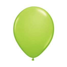 "12"" Metallic Pearl Lime Green Latex Balloons"
