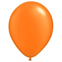 "12"" Metallic Pearl Tangy Orange Latex Balloons"