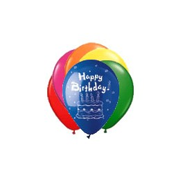 "12"" Happy Birthday Latex Balloons"