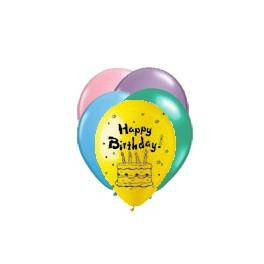 "12"" Happy Birthday Pastel Latex Balloons"