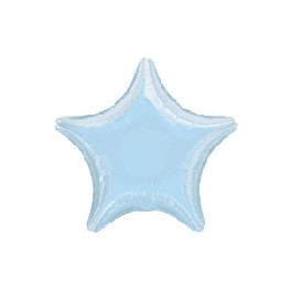 "18"" Pastel Blue Star Mylar Balloon"