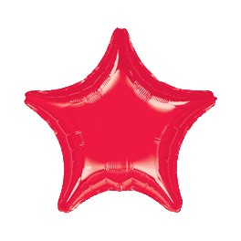"18"" Red Star Mylar Balloon"